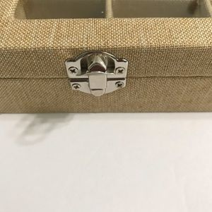bead landing Storage & Organization - Jewelry Glass Burlap Display Grid Jewelry Tray